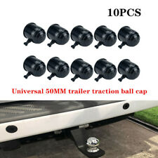 10x 50mm Tow Ball Bar Cap Cover Towing Car Van Trailer Towball Protection Trims