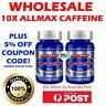 10x NEW ALLMAX Nutrition Pure Caffeine 200mg x 100 Tablets Vegan  BULK CLEARANCE