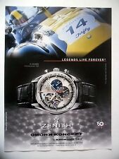 PUBLICITE-ADVERTISING :  ZENITH El Primero - Ed.Tour Auto 2015 Kronometry,Montre