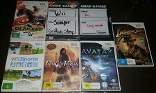 @@ Lot of 7 Mixed Nintendo Wii Games (Bulk Lot) PAL Releases, Fun Game Titles @@