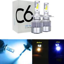 Pair 72W H4 9003 HB2 8000K LED High Low Beam Headlights Bulbs Kit Plug And Play
