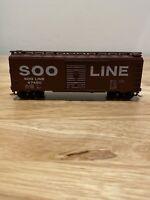 HO Scale Athearn Bev Bel 455 SOO LINE 40' Single Door Steel Box Car 47480 RTR