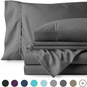 Deep Pocket 1800 Count Super Soft Sheet Set - Includes Bonus Pillowcases