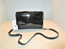 Michael Kors Daniela Patent Leather Large Crossbody Messenger Bag $198 Black