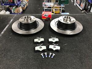 FOR MEGANE RS275 RS265 MK3 SPORT REAR PADS DISCS BRAKE AND SENSOR BEARING ABS