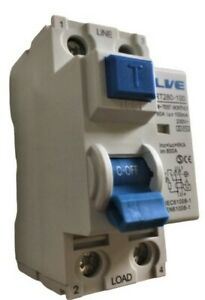 LIVE RT280-100 2 Pole RCD 80 Amp 100mA Double Pole Time Delay  Residual Current