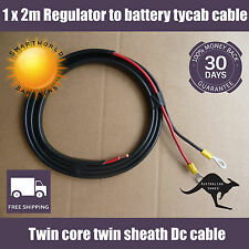 1 x 2m  tycab cable from regulator to battery lead with lugs Solar kit