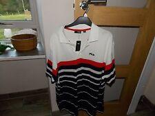 Neuf Avec Étiquettes Homme Fila Polo Shirt en XX Large