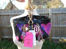 Versace for H&M Silk Pink/Black Leather Designer Bag BNWT Charms Bag hearts