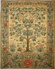 "NEW 37"" 94CM TREE OF LIFE BEIGE WILLIAM MORRIS DESIGN TAPESTRY WALL HANGING"