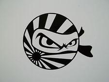 2 x Ninja Rising Sun Stickers- Vinyl Decals JDM Euro Jap Car Window VW Dub VAG