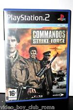 COMMANDOS STRIKE FORCE USATO BUONO STATO PS2 EDIZIONE ITALIANA PAL ITA FR1 31083