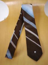 "Vintage 60s PIERRE CARDIN Striped Logo Skinny Mod Preppy Dress Tie 2.5"""