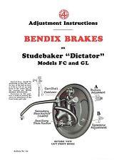 29 1930 Studebaker Dictator Model FC and GL Brake Adjustment and Trouble Finder