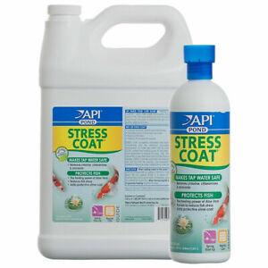 API Pond Stress Coat 473ml 946ml 3.8L Garden Tap Safe Dechlorinator Chlorine