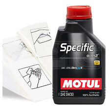 Engine Oil Top Up 1 LITRE Motul Specific dexos2 5W-30 1L +Gloves,Wipes,Funnel