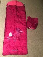 Junior Quechua Maroon Sleeping Bag 140cms