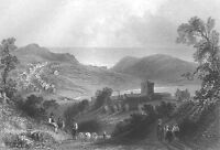 Cumberland SAINT BEES THEOLOGICAL COLLEGE PRIORY ~ Old 1840 Art Print Engraving