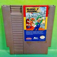 Mario is Missing (Nintendo Entertainment System, 1993) - Nintendo NES Game Rare