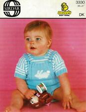 "SI3330A BABIES DK ""BUNNY RABBIT"" TOP & PANTS KNITTING PATTERN 20-21""/51-53"""