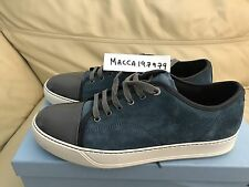 Lanvin Trainers UK 9 Blue Suede With Patent Front