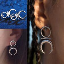 Boho Earrings For Women Girls Moon Ear Stud Vintage Tribal Ethnic Punk Jewelry