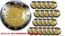 23 X 2 EUROS 2015 -  30 AÑOS DE LA BANDERA EUROPEA - SIN CIRCULAR