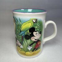 Disney Vintage Mickey Mouse Jungle Beverley Ceramic Mug Cup Forest Parrot VGC