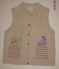 Women's The Disney Store Vest Button Up Size L  60% Linen 40% Cotton