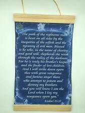 Ezekiel 25:17 The Path of the Righteous Man .. Canvas Wall Print, 8x12,Dark Blue