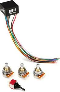 Aguilar OBP-3TK 3-Band Boost/Cut On Board Bass Preamp w... (3-pack) Value Bundle