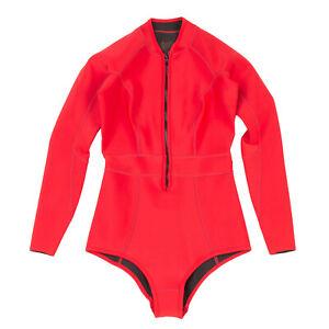 RRP €150 DUSKII Neoprene Rash Guard / Swimsuit Size S Zip Front Exposed Seams