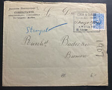 1907 Sincelejo Colombia Commercial Cover To Bremen Germany