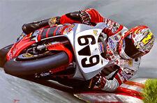 Nicky Hayden AMERICAN HONDA Moto Motocicletta RACING Arte Pittura Stampa