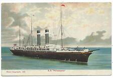 "SHIPPING - ""S.S. PHILADELPHIA"" Stuart Postcard USA to ENGLAND"