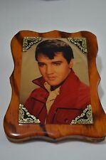 Vintage Elvis Presley Picture Laminated on Cypress  Wood Plaque Mounting