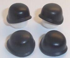 Lego Army Helmet x 4 Black Headgear for Minifigures