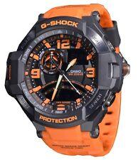 Casio G-Shock Mens Wrist Watch Twin Sensor GA1000-4A GA-1000-4A Black-Orange