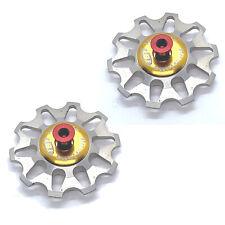 Token Ceramic Bearing Derailleur Pulleys - Campagnolo 10 Speed - Silver