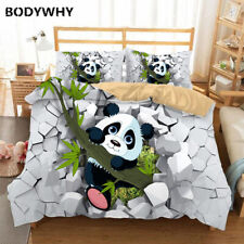 2020 cartoon bedding set luxury panda print quilt cover pillowcase with children