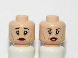Lego 1 Flesh Minifigure Reversible Head Female Girl Woman Old Lady