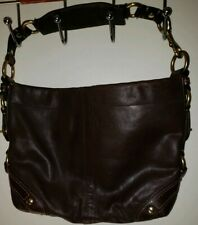 Coach Carly Dark Brown Leather Hobo J0782-10615 Bucket Purse