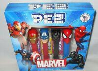 PEZ MARVEL Gift Set IRON MAN/SPIDER-MAN/CAPTAIN AMERICA/BLACK PANTHER