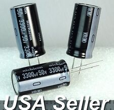 (Lot of 3) 3300uF 50V Nichicon VR Radial Capacitors -Fast USA Ship-
