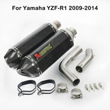 For Yamaha YZF R1 09-14 Exhaust Muffler Tube Carbon Fiber Mid Link Connect Pipe