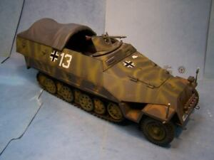 Custom German  1/18th Scale SDKFZ 251 3/4  Tarp Cover Ultimate Soldier BBI