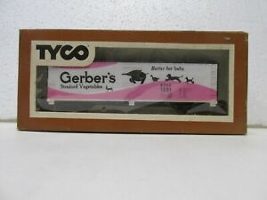 Tyco Gerber's Strained Vegetables #1001 Box Train Car HO Gauge Scale tr2294