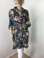 Button Down Shirt Hand-wash Only Floral 100% Cotton Tops & Blouses for Women