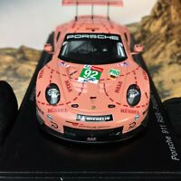 New 1/43 Spark Porsche 911 RSR Car model pink pig 2018 LeMans LMGTE Winner S7033