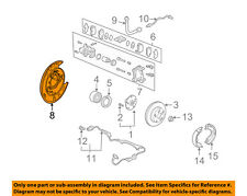 HONDA OEM Rear Brake-Backing Plate Splash Dust Shield 43120S3VA01